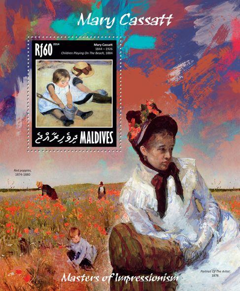 "MLD 14209 bMary Cassatt (""""Children Playing on the Beach"" 1884)"