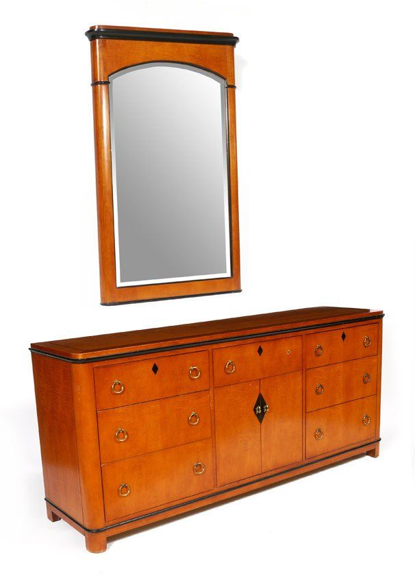 National Mt Airy Dresser With Mirror Lot 1238