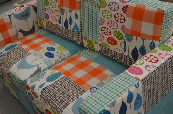 Sofá em patchwork