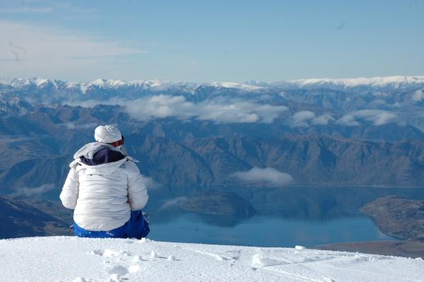 Snow board in New Zealand