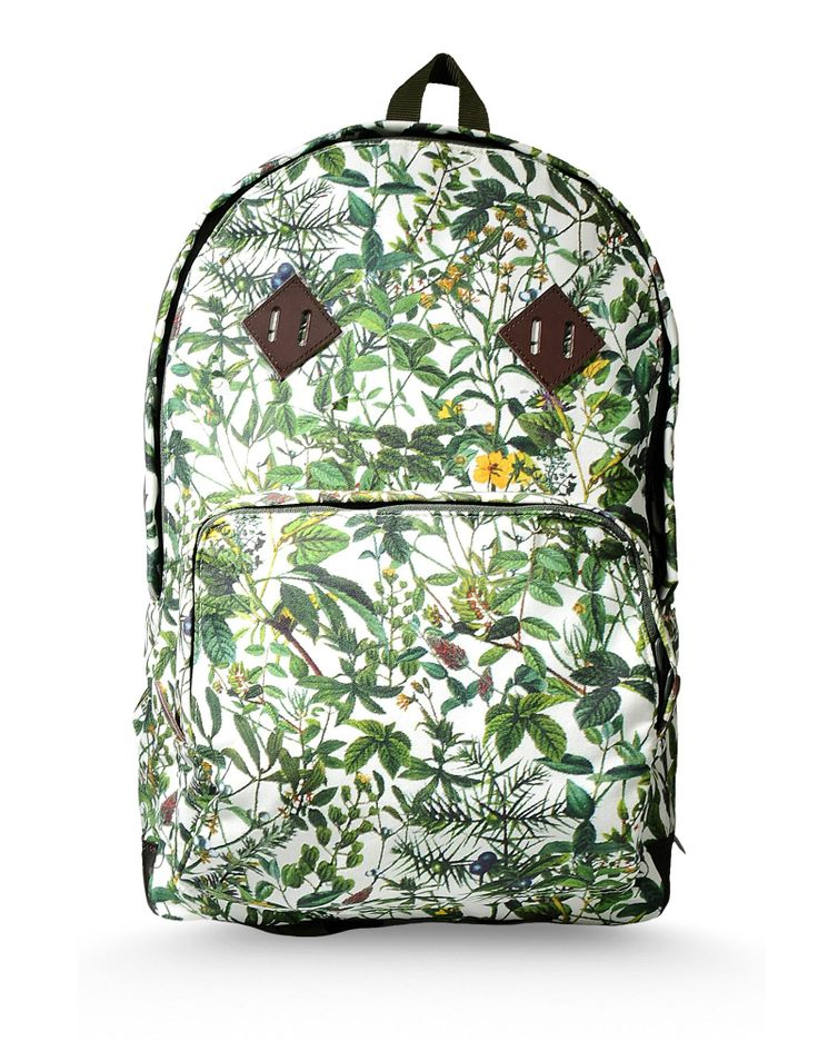 Floral print rucksack by WHITE MOUNTAINEERING #bagpack #zaino #bag #mesnwear #unisex #casual #practical #accessories
