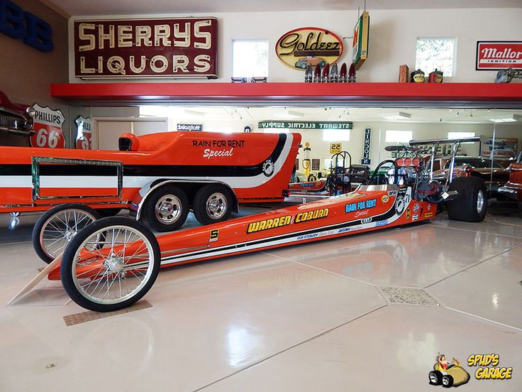 """Spud's Garage in Arizona has listed this super-cool, original James Warren and Roger Coburn owned and raced Top Fuel Dragster, the famed """"Rain for Rent Special"""", and its rare Mr. Ed trailer up for sale."""
