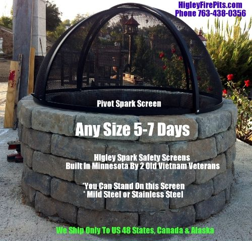 108 Best Custom Stainless Steel Fire Pit Spark Screens