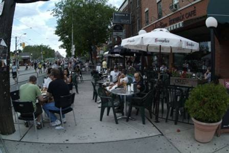 Patio in Little Italy - Toronto
