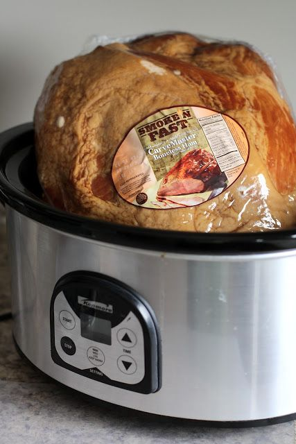 Cooking your holiday ham in the crockpot ~ my favorite method! SO EASY and ham is moist and flavorful! Butter with a Side of Bread #crockpot #recipe