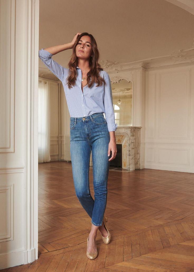 Idée de look jean stylish décontracté (informal stylish) femme printemps / été Séz…