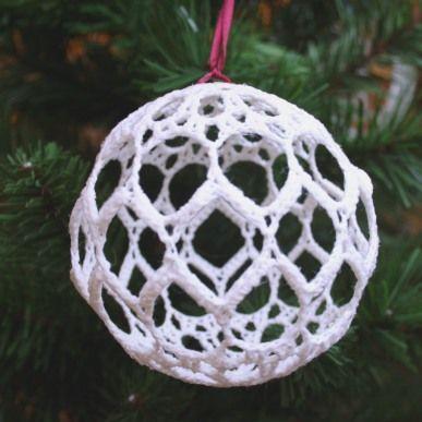 Crochet Ball Ornament | CraftPenguin.com