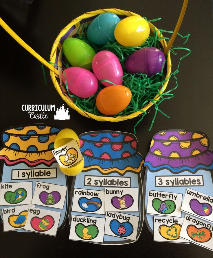 447 best easter preschool activities images on pinterest easter free spring syllable sort center sort by 1 2 3 syllable words spring negle Image collections