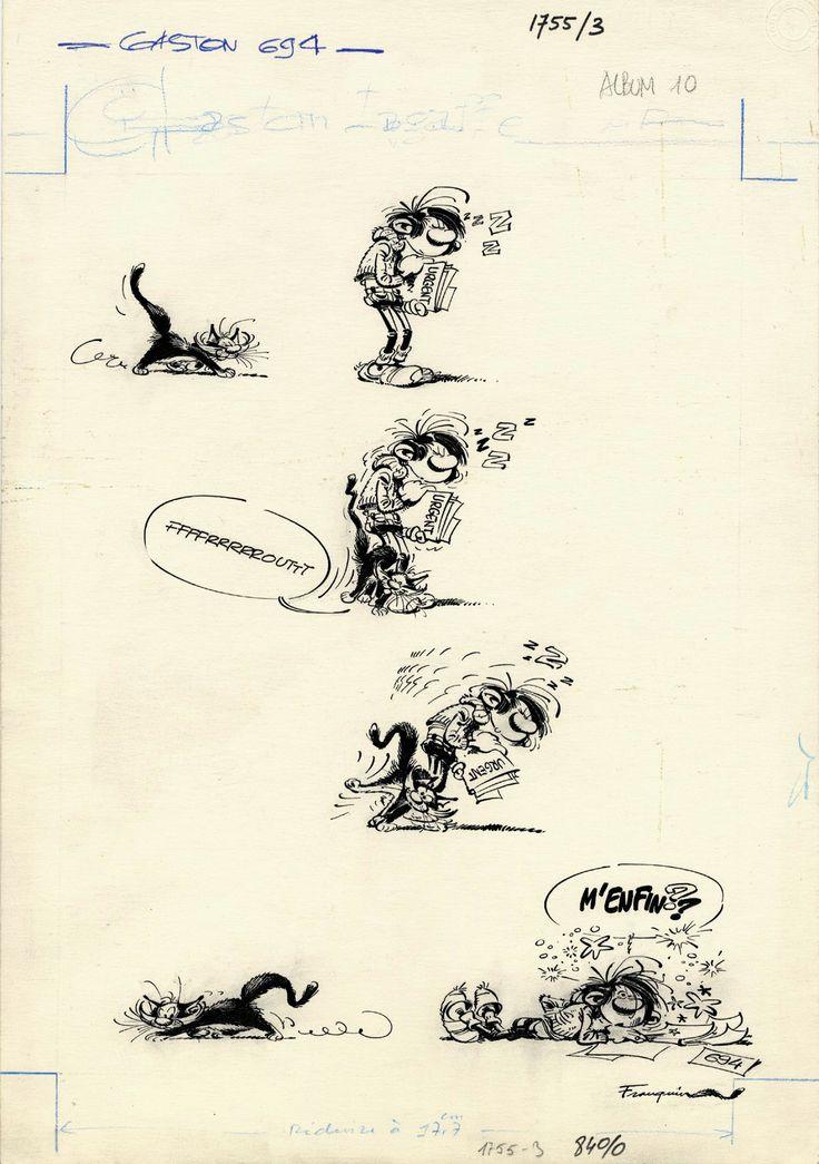 Gaston Lagaffe par Franquin. Gag 694 du 2 décembre 1971.