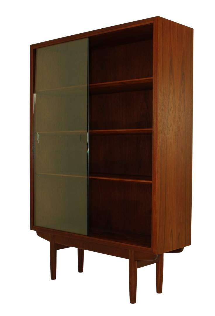 Danish modern teak display cabinet by borge mogensen from for Modern teak kitchen cabinets