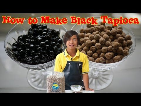 Buddy from The Menehunes shows us how to cook Black Tapioca pearls for your Boba or Bubble Tea drink.  You can buy the Black Tapioca Pearls from our store: http://www.bubbleteasupply.biz/black-tapioca-pearl-for-bubble-tea