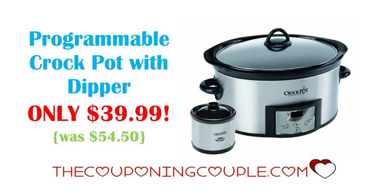 With the Holidays coming up get this Programmable Crock Pot with Dipper for ONLY $39.99! Family gatherings are much easier to go to when you can make and take in a crock pot.  Click the link below to get all of the details ► http://www.thecouponingcouple.com/programmable-crock-pot-with-dipper/ #Coupons #Couponing #CouponCommunity  Visit us at http://www.thecouponingcouple.com for more great posts!