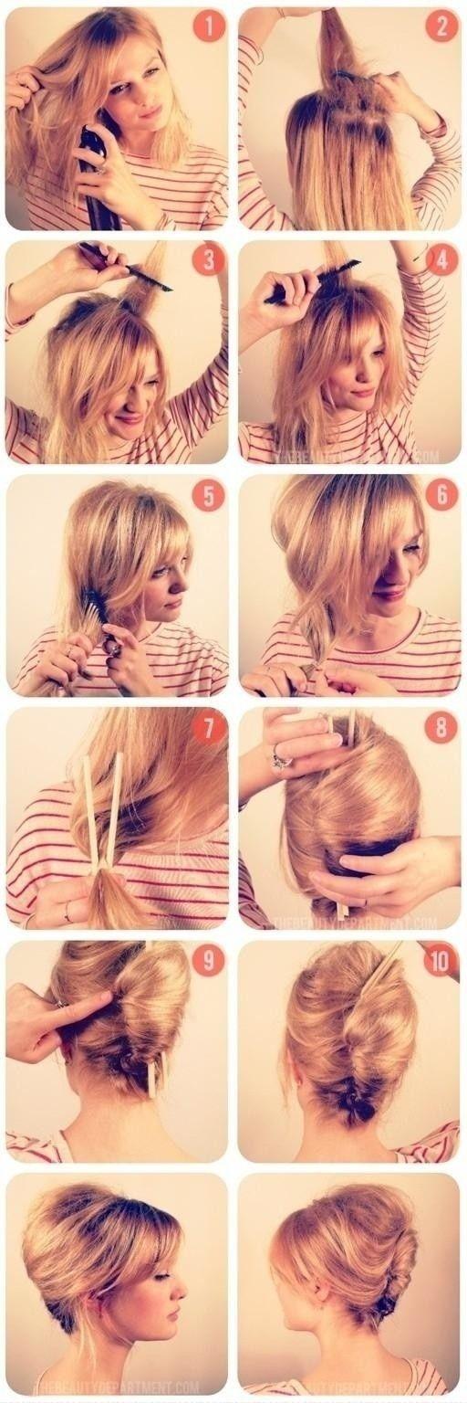 En este articulo te mostramos un Peinado Elegante para las chicas que tienen cabello corto y por lo tanto es mas dificil hacer uno. Dale clic y aprende.