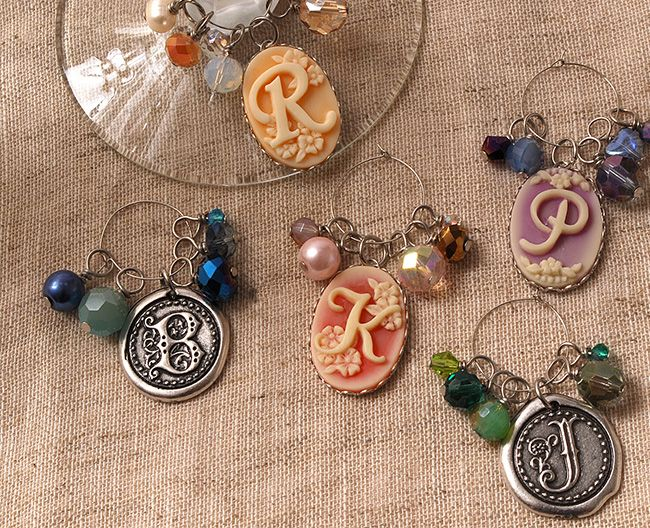 Jewelry Making - Monogram Wine Charms with the Monogram Collection #DIY vintage - click thru for the full tutorial!