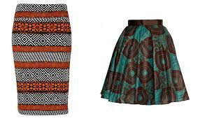 Traditional African printed skirts - add a dark jacket or skirt for an original look