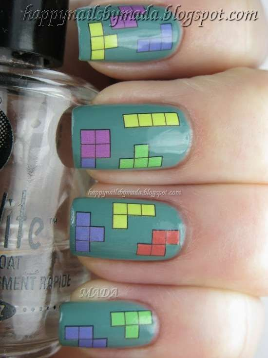 Tetris | | FANCY NAIL ART | | Pinterest | Nail Design, Nails and ...