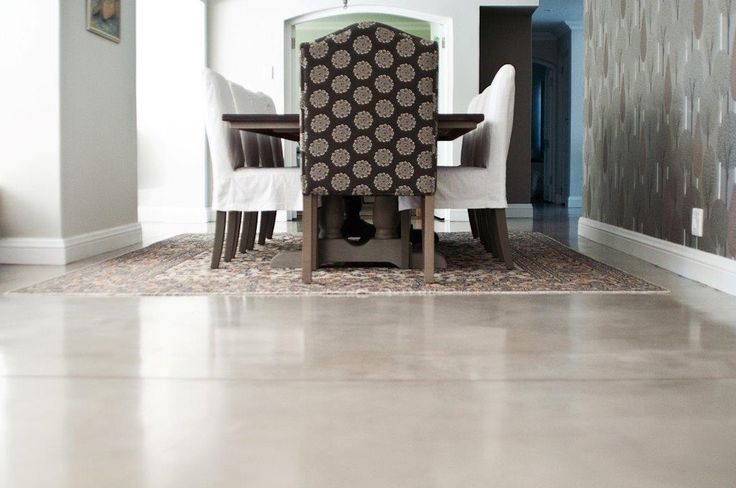 Earthcote pigmented floorcote - colour bleached rope #PaintSmiths #homedecor #floorcote #earthcote #interior #paint #diningroom #floor