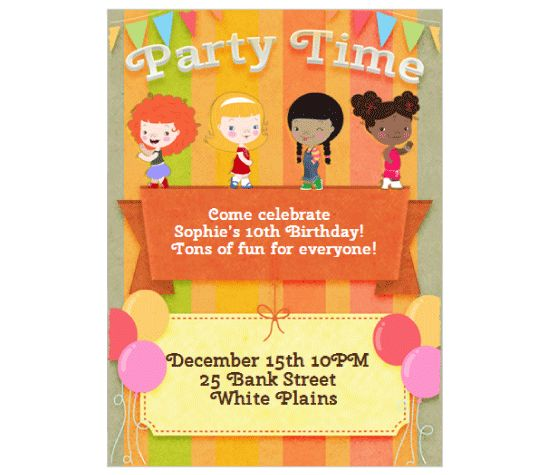 38 best invitation printables images on pinterest invitation cards download this all girls party time invitation card and other free printables from myscrapnook stopboris Gallery