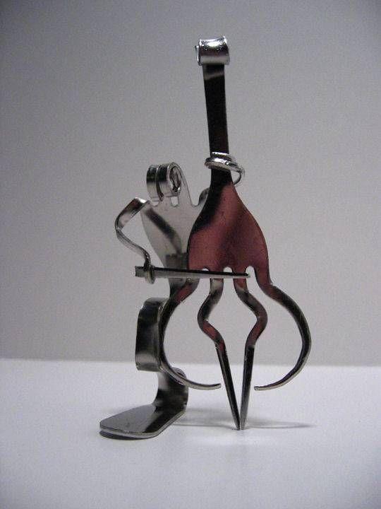 Esculturas de garfos de aço inoxidável por Matthew Bartik - amazing