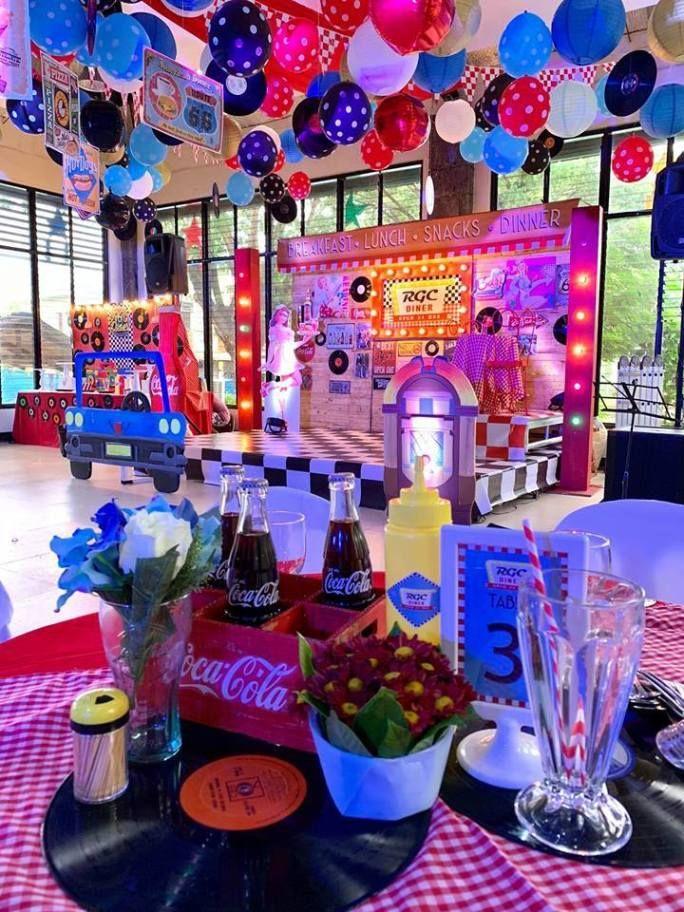 Diners Retro Night Party Retro Birthday Parties Retro Birthday