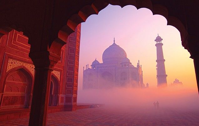 Taj sunrise....experience India like a local on a fully escorted tour with Wendy Wu Tours