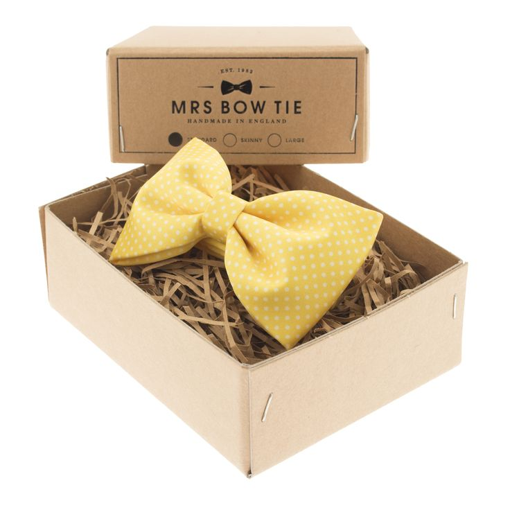 Pin Dots on Yellow - Mrs Bow Tie