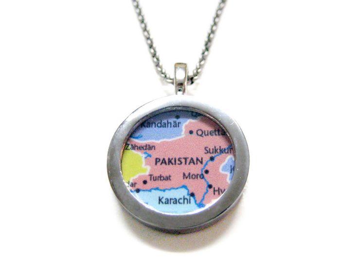 Pakistan Map Pendant Necklace