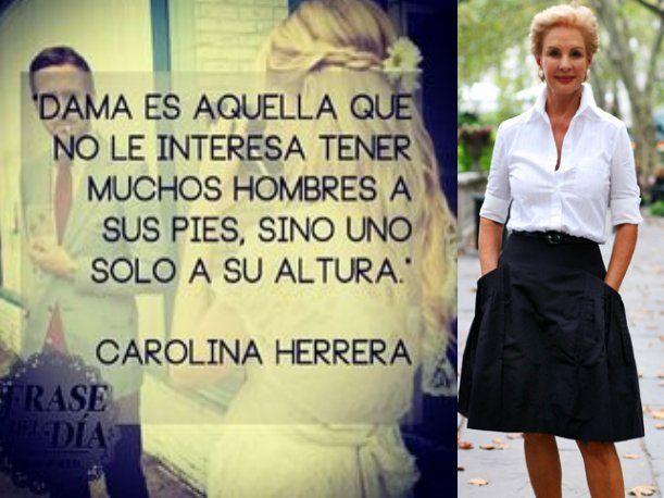 La diseñadora de moda venezolana Carolina Herrera cumple 75 años y lo celebramos recordando sus frases más emblemáticas.