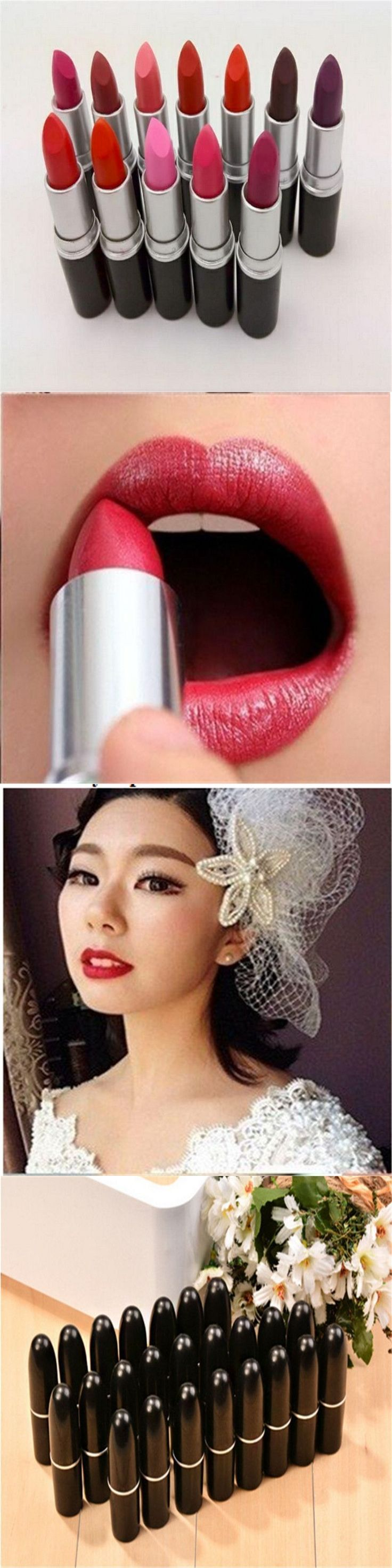 12 Colors Matte Lipstick Elegant Sex Make Up Lipsticks Waterproof Lipsticks Pencil Lip Stick Cosmetic Lip Balm Dress Women Gift