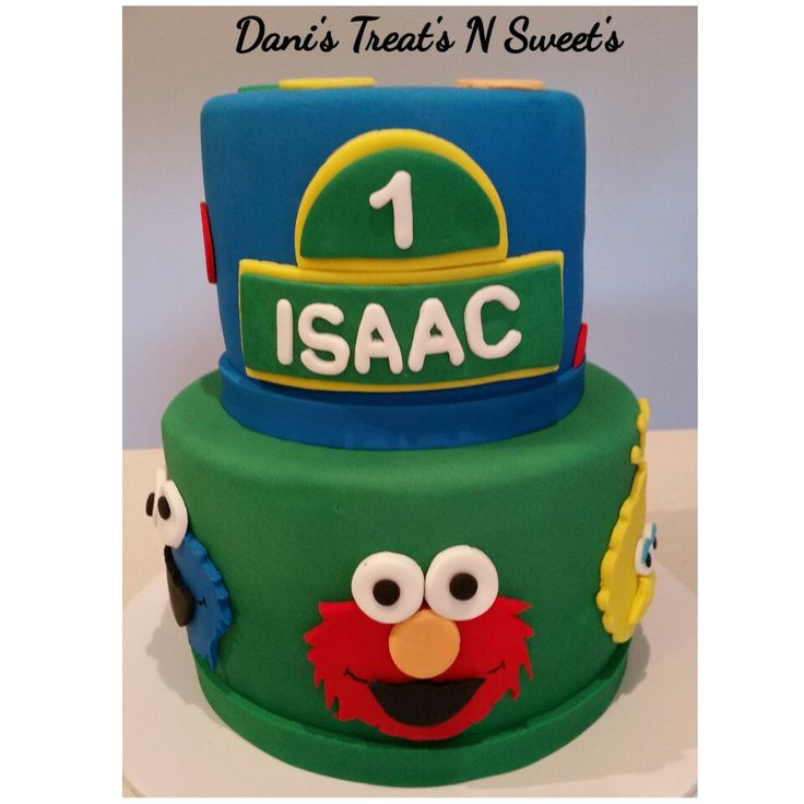 Sesame street with personalised name plaque