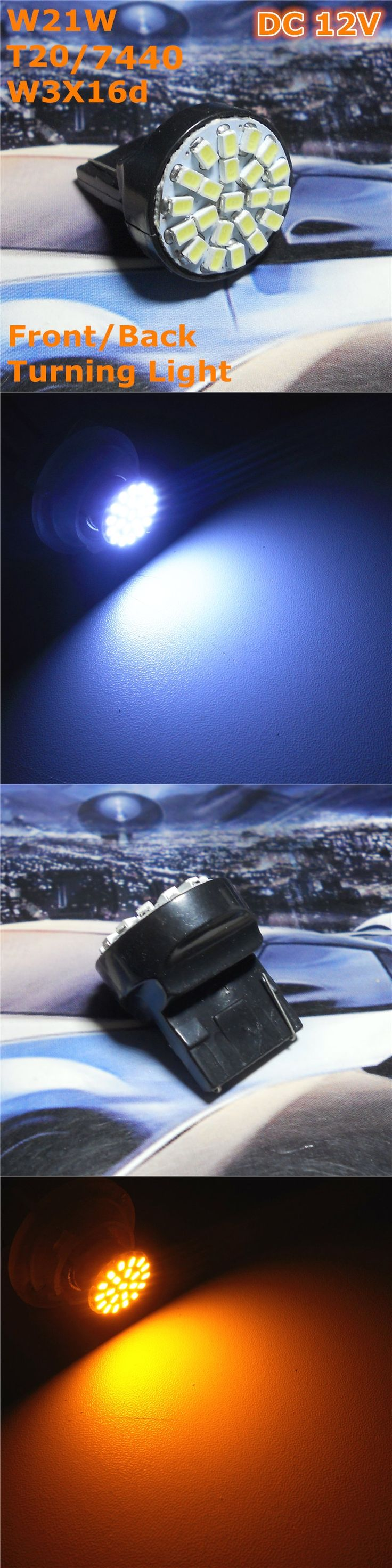 Stock Shipping New 12V LED(22*1206SMD) Car Lamp W21W T20 W3X16d Single Line For Front Back Turning Light Back Foglight