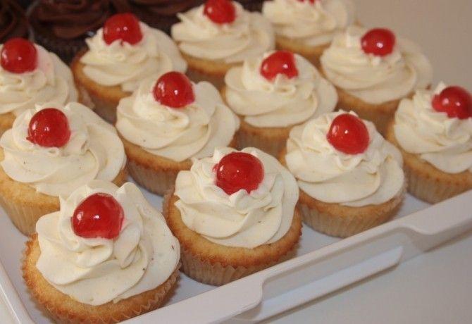Citromos sajttortás cupcake