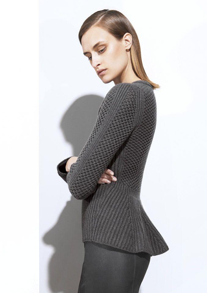 Iris Von Arnim Fall/Winter 2014. Great knit stitch design.