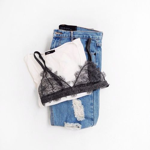 The Most Popular Lingerie On Instagram #refinery29  http://www.refinery29.com/instagram-lingerie-pictures-ideas#slide-2  This label knows a thing or two about lacy triangle bras.