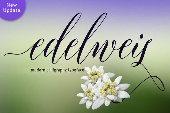Edelweis Script (45% Off) by joelmaker on @creativemarket