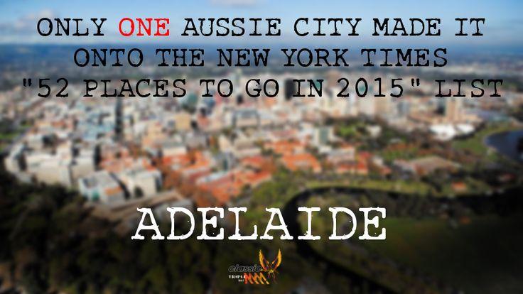 Adelaide, Capital city of South Australia.<<<pretty cool