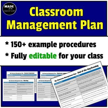 Classroom Management Plan - 150+ procedures, fully editable