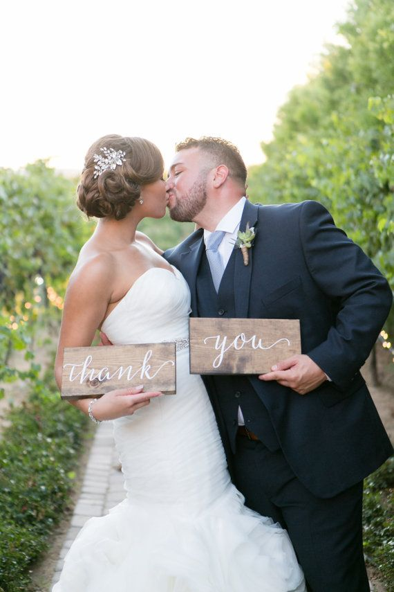 Wedding Thank You Signs Rustic Wood Wedding Signs by OAKYdesigns