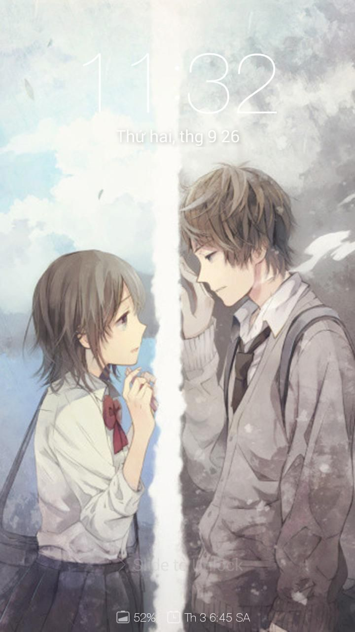 Cute Anime Couple Wallpaper Free Download Di 2020 Animasi Pasangan Anime Lucu Pasangan Animasi