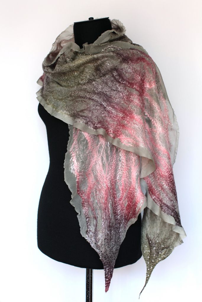 Nuno Felted Wrap Scarf | Flickr - Photo Sharing!                                                                                                                                                                                 More