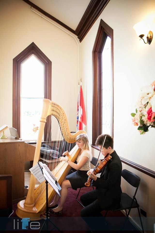 Live Music Harp and Violin at The Chapel at Minoru Park / Minoru Chapel Wedding   www.thechapels.ca