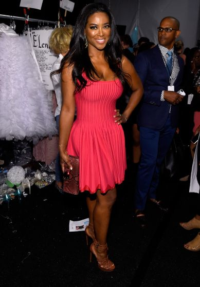 Kenya Moore at Betsey Johnson - Backstage - Mercedes-Benz Fashion Week Spring 2015