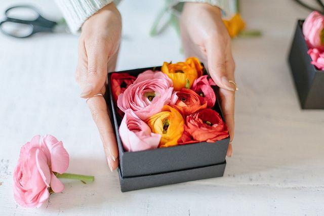 Diy Boxed Flowers