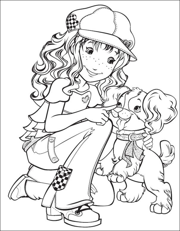 Holly hobbie solange sueiro lara lbuns da web do for Holly hobbie coloring pages