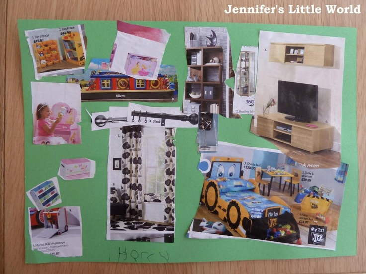 Jennifer's Little World blog - Parenting, craft and travel: A quick children's craft - design your own room