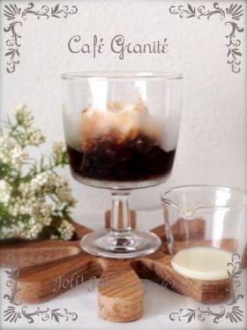 「ベトナムコーヒー風のグラニテ」joli!joli! | お菓子・パンのレシピや作り方【corecle*コレクル】