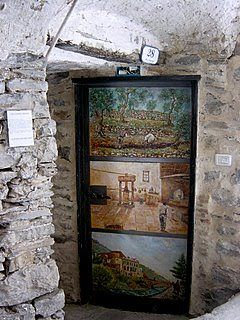 best travel vacations: Valloria, a village with painted doors