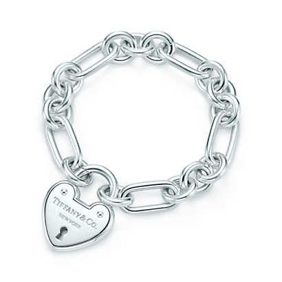Bracelet Cœur, Locks Tiffany en argent massif. Medium.