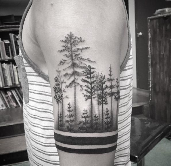 Image result for jungle tattoo black and white