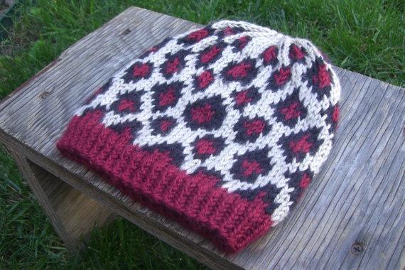 Hand Knit Leopard Print Cheetah Hat | Knitting | Knitting ...